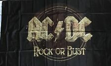 ACDC Flag Rock Or Bust AC/ DC Textile Material 5FT By 3FT Freight Free !!!
