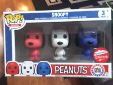 Funko Pop! Peanuts Snoopy Rock The Vote Mini 3-Pack (Fugitive Toys Exclusive)