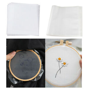 5pcs Fabric Transfer Paper / Water Soluble Stabilizer Topping Paper 5 Sheets