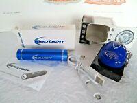 NEW BUD LIGHT POWER BANK WITH PLUGS + MAGNETIC BUD LIGHT BOTTLE OPENER