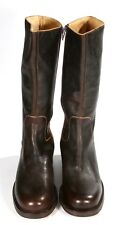 Cesare Paciotti Dark Brown Leather Mid Calf Boot Casual Riding Style Size 40/ 9