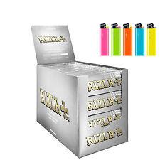 Cartine CORTE RIZLA SILVER GRIGIE CORTE argento  1 BOX  100 PZ
