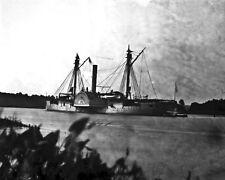 New 8x10 Civil War Photo: Union Federal Gunboat MENDOTA on the James River