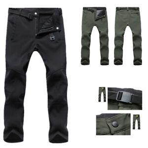 UK Men Warm Cargo Combat Work Pants Thick Thermal Tactical Waterproof Trousers