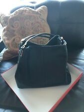 Coach F1376-26224 Black Medium Shoulder Handbag Gold Hardware NEW