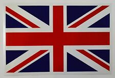 Superb A4 Union Jack Flag Sticker/Decal Car/Van/Trailer/Campervan/Caravan/Window
