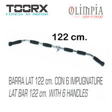 LAT BAR 122cm DORSALI professionale MULTIUSO per LAT MACHINE con 6 IMPUGNATURE