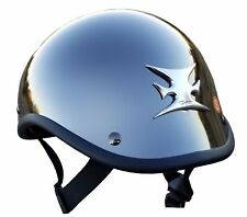 Voss Novelty Motorcycle Helmet Gladiator Black Chrome with maltese cross