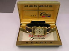Vintage Benrus Citation Watch Fancy Case - 10k Gold Filled w/ Box and Papers
