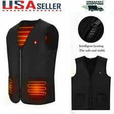 S-XXXL Heated Vest USB Electric Heating Waistcoat Heated Clothing【45℃/55℃/65℃】US