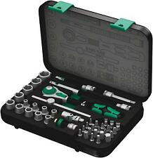 "Wera Zyklop Speed Ratchet Socket Wrench Bit 1/4"" Drive Matric Suitcase Set 42 Pc"