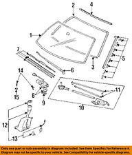 HONDA OEM 92-95 Civic Windshield-Reveal Molding Right 73152SR3003