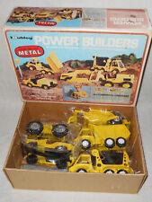 1972 Hubley Power Builders 5 Mighty Metal Constructioneers Set w/ Road Signs BOX