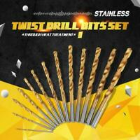 Set Punte Trapano a Spirale 13 pz HSS Drill Bit Cobalto Titanio 1.5mm~6.5mm Kit