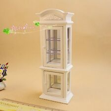 1:12 miniature Puppenhaus Wine white transparent window display cabinets