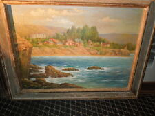 1937, Malibu,California Oil on Canvas by Andreas Roth, 1937
