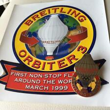 Unused Breitling Orbiter Pin Badge with Sticker #981