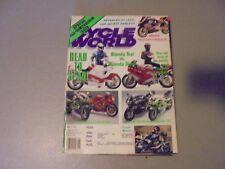 MAY 1991 CYCLE WORLD MAGAZINE,,HARLEYS,BIMOTA,TESI,DIECI,SUZUKI GSX-R750,KAWASAK