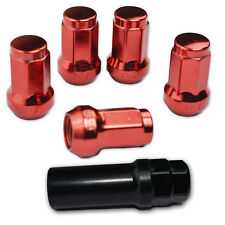 20 PC RED STEEL CLOSED-END LOCKING HEPTAGON LUG NUTS FOR WHEELS/RIMS 12X1.5 A