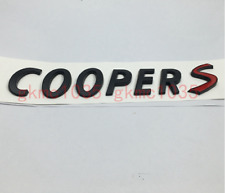 For Mini Cooper Matte Black Emblem Badge Chrome Cooper S Logo Countryman Clubman