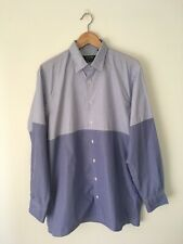 Gitman Bros X Opening Ceremony Size M Blue Striped Color Blocked Shirt NWOT
