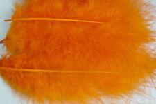 12 x plumes de  MARABOU ORANGE 12 a 17 cm montage mouche fly tying feathers