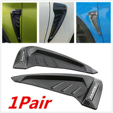 1Pair Car Fender Blade Side Wing Vent Shark Gills 3D Carbon Fiber Look Stickers