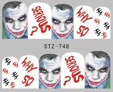Nail Art Stickers Water Decals Transfers Batman The Joker (STZ748)
