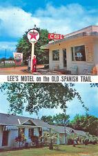 Marianna FL Lee's Motel & Cafe Texaco Gas Station Postcard.