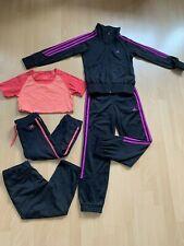 Adidas Mädchen Trainingsanzug Gr. 140 + T-Shirt + Sport Hose
