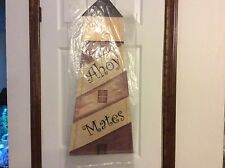 """Light house canvas door or wall hanging 30-1/2 """" long & 12"""" wide at bottom"""