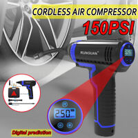 150PSI USB Rechargeable Battery Cordless Air Compressor Automatic Tire Tyre Pump