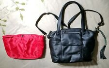 """Sold Out Lily Jade """"Madeline"""" Black Leather Diaper Bag $345"""
