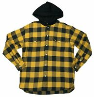Levi's Mens Plaid Hooded Heavyweight Flannel Long Sleeve Button Down Shirt NWT