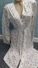 Waite's Gorgeous Oriental White Kimono / Wrap Dressing Gown size  XL 20-22