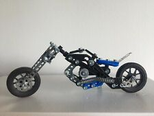 Meccano Erector 5 in 1 Model Motorcycles Engineering Robotics Set Building Toy