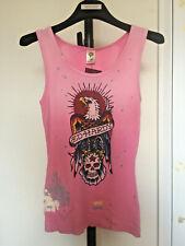 Ed Hardy Customised Vest Top Tshirt Distressed Tatoo Tee s