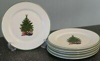 Kronester Bavaria Christmas Tree Topped w/ Angel  SALAD / DESSERT Plates SET/6