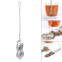 1PC Stainless Steel Peanut Shape Tea Strainer Herbal Spice Infuser Loose Filter