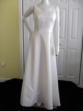 DAVIDS BRIDAL WEDDING GOWN IVORY SIZE 10 STYLE 9502 FLOOR LENGTH BEACH EMPIRE
