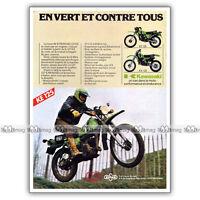 PUB KAWASAKI KE & KX 125 KE125 KX125 - Original Advert / Publicité Moto de 1980