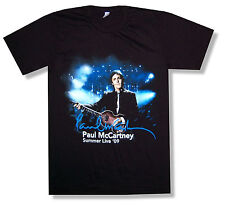 Paul Mccartney Dallas Event 2009 Black Tour T Shirt Beatles New Official