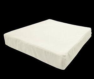 mb51t Cream White Flat Velvet Style 3D Box Sofa Seat Cushion Cover*Custom Size*