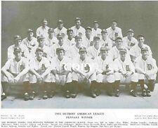 Detroit Tigers :  '35 Tigers Team Photo--A.L. & W.S. Champs!  BB36