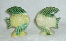 Vintage Green Fish Aquarium Salt and Pepper Shakers