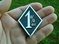 1%er EMBLEM Chrome Metal Biker Badge HIGH QUALITY fits HARLEY-DAVIDSON etc