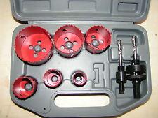 9 PC Bimetal amadeal Serrucho Set 22-64mm
