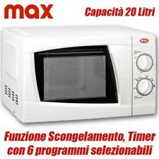 Forno a Microonde Max Capacità 20 lt 700 W e sei programmi selezionabili 158402