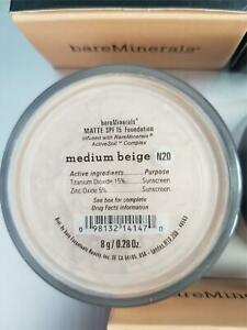 Bare Escentuals BareMinerals ORIGINAL MATTE Foundation MEDIUM BEIGE - N20 8g  XL