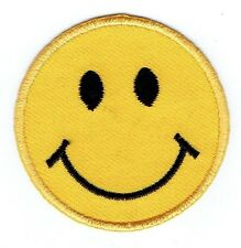 LARGE Smiley Face Emoji Yellow Emoticon - Iron on Applique/Embroidered Patch